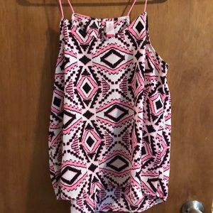 Pink and black Aztec Tank